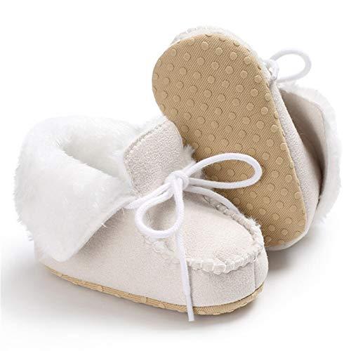 Botones para bebés de Invierno Botas de algodón Chicos de algodón Alto Top Zapatillas Fleece Mocasines recién Nacidos Bebé Botas de cálido Lana Nieve Zapatillas de Deporte