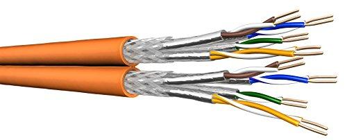 Draka Cat7 Duplex Verlegekabel UC900 HS23 S/FTP PiMF, 100m Ring 1000 MHz geschirmtes Netzwerk Installationskabel zum Anschluss von Netzwerkdosen + Patchpanel