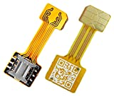 TECNOIOT Hybrid Dual SIM Card Adapter Micro SD Nano SIM Extension Adapter for Android | Dual SIM...