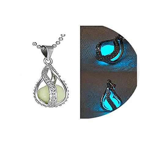 suchada j.shop Fashion Women The Little Mermaid's Teardrop Glow in Dark Charm Pendant Necklace