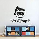 yaonuli Hard Player Wandtattoo Junge Wandaufkleber Home Decoration Junge Kinderzimmer selbstklebend...