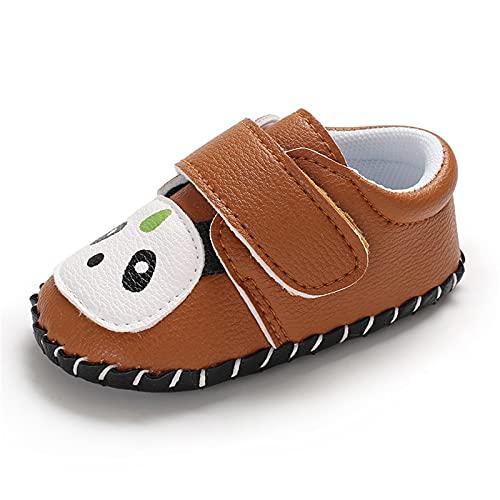 Zapatos para niños pequeños, zapatos para aprender a andar, zapatos de bebé, antideslizantes, panda, zapatos transpirables, para ocio, suelos, suaves, zapatos para bebé, marrón, 21