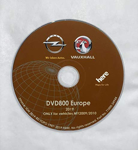 ORIGINAL OPEL NAVI DVD800 MY2009/2010 Europe Version 2019