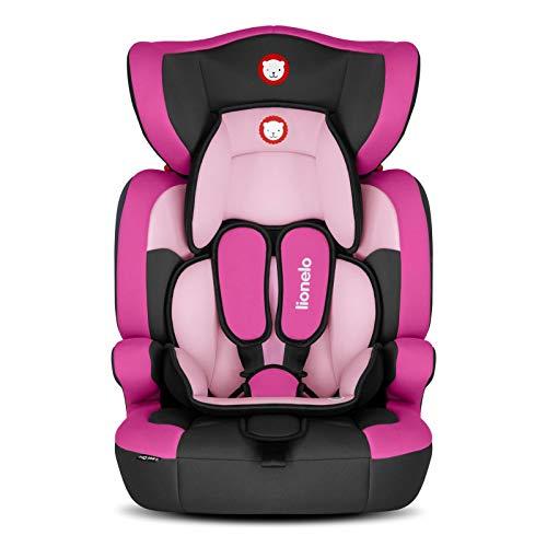 Lionelo Levi One seggiolino auto gruppo 1 2 e 3 da 9 a 36 kg protezioni laterali comodi braccioli installazione con la cintura di sicurezza ECE...
