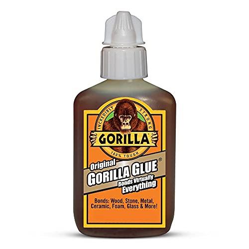 Gorilla Original Waterproof Polyurethane Glue, 59 ml Bottle, Brow