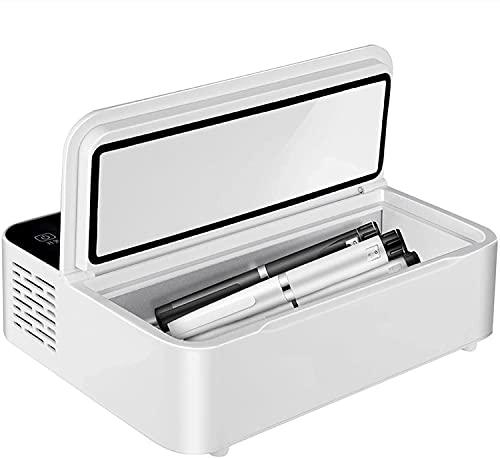 LSWY Mini refrigerador Buena Mini Medicina refrigeradora e insulina refrigerador, pequeña Caja de Nevera Insulin portátil Refrigerador de insulina Viaje para automóvil/Viaje/Inicio- Modos de Carga
