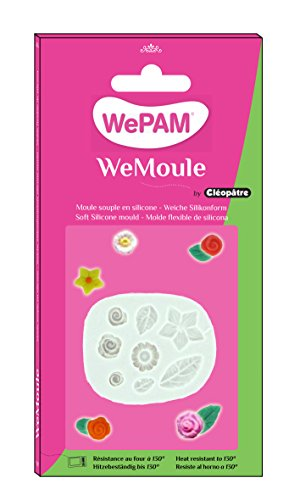 WePAM - PF09MA39 - WeMoule - Moule Silicone Multi Roses/Feuilles
