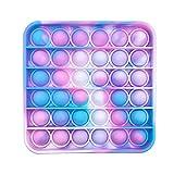 RSL Little Heroes Pop it Juguete Antiestrés Sensorial de Explotar Burbujas Push Bubble Fidget Toy Herramientas para aliviar el estrés y la ansiedad para niños y Adultos (SICODELIC Square)