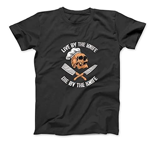 Chef - Skull Knife Death Cook - Restaurant Horror Skelett Premium T-Shirt Sweatshirt Hoodie Tanktop for Men Women Kids Black