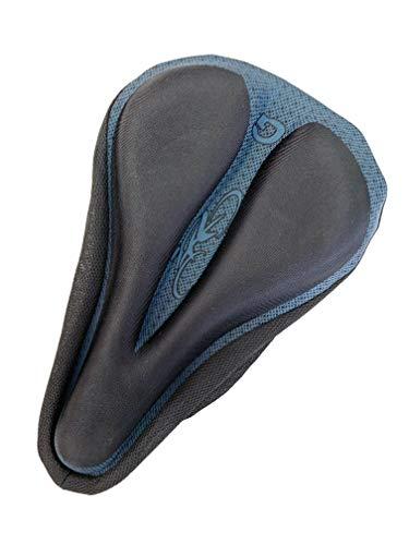 Ducomi - Funda para sillín de bicicleta con almohadilla de gel acolchada - Ergonómico y suave para pedalear sin dolor - Cyclette, Spinning, Bicicletas de Carrera y Ciudad (azul)