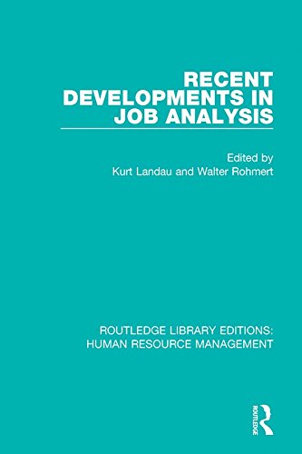 Recent Developments in Job Analysis (Routledge Library Editions: Human Resource Management) (English Edition)