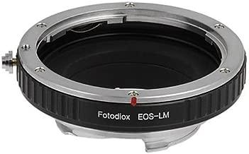 Fotodiox - Adattatore Pro per obiettivi Canon EOS sufotocamere Leica M , per Leica M-Monochrome, M8.2, M9, M9-P, M10 e Ricoh GXR mount A12, per EOS EF e lenti EF-S