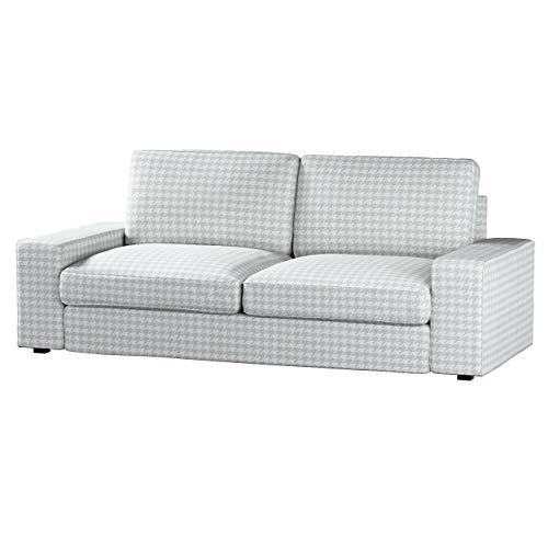 Dekoria Kivik 3-Sitzer Sofabezug Husse passend für IKEA Modell Kivik, grau