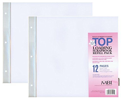 MBI by MCS 12-Inch by 12-Inch Scrapbook Expansion Pages, 6 sheet Count, 12 pages (2)