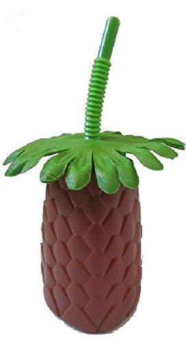 Mondial-fete - 12 Coupes ananas cocktail PVC 35 cl - (15 x 8 cm)