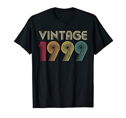 Vintage 1999 21st Birthday Gift Retro Shirt 21 Years Old T-Shirt