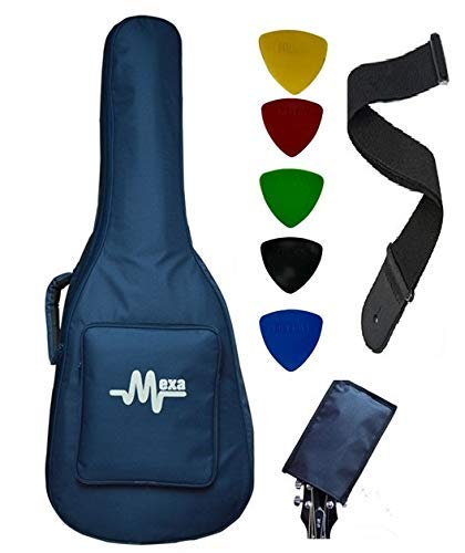 Mexa For Yamaha F280 / FS80C / FS100C / F310 Guitar Bag Padded Quality Waterproof Fabric With Guitar Belt & Guitar Head Cover.