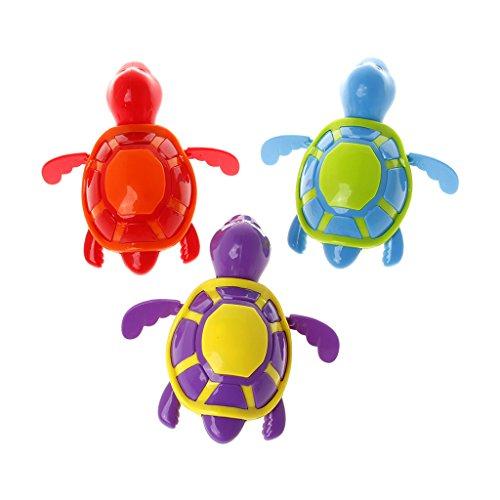 KOFUN Paquete de 3 líquido Concentrado de Burbujas, Lindo Tortuga Nadando Juguetes de la Piscina para bebés, niños, niños, baños, bañeras
