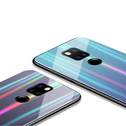 Kkkie Hülle kompatibel Huawei Mate 20, Tempered Glass Stoßfest Back Case TPU Bumper Dünn Farbverlauf Schutzhülle Kratzfest Protective Handyhülle kompatibel Huawei Mate 20 Pro (Schwarz, Mate 20 Pro) - 3