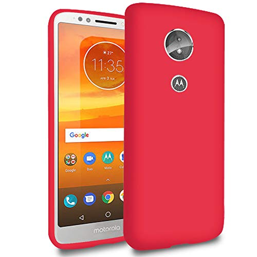 5.8 Funda Ligera para Motorola Moto E5   TPU Bumper  en Rojo