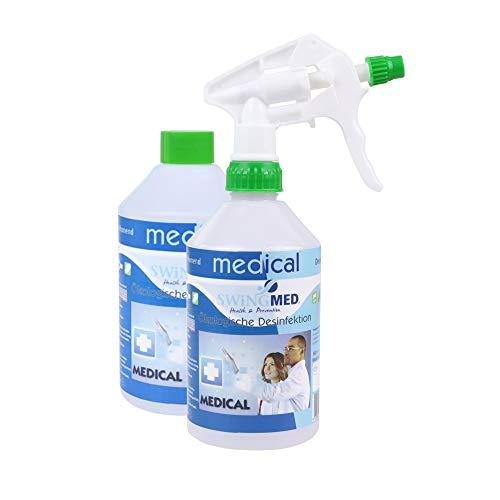 STAUBSAUGERMANUFAKTUR staubsaugermanufaktur.de Ökologisches Handdesinfektionsmittel (2X 500ml) - Desinfektionsmittel Geruchsneutral & biologisch abbaubar - Auch zur Flächendesinfektion