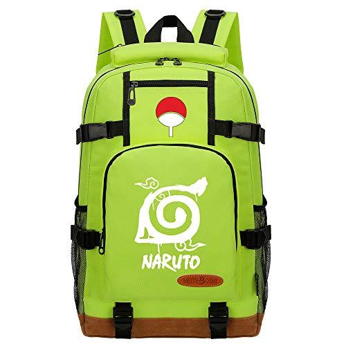 CXWLK Mochila Resistente Al Agua, Ideal para Viajes Y Actividades Al Aire Libre, para Hombre Mujer Gran Capacidad Mochila De Gran Capacidad,Naruto,Green,46cmX29cmX13cm