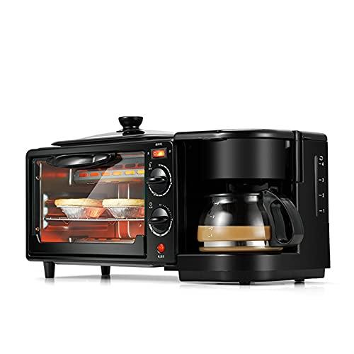 PSFYYY Máquina de Desayuno Multifuncional Tres, Horno eléctrico, cafetera, máquina de Desayuno de sándwich automático para el hogar