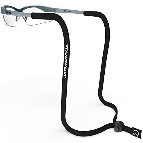 STANDWERK® Basic+ Brillenband – Perfekt verstellbares Sportbrillenband für Damen, Kinder, Herren – Brillenhalter geeignet für Sport & Freizeit – Sportband Brille zuverlässig und wasserfest