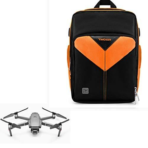 Lightweight Waterproof Drone Backpack Carrying Case Bag for DJI, Autel, Parrot, Geniusidea Quadcopter(Orange)