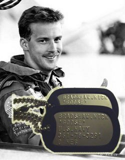 Top Gun GOOSE Military Authentic Replica Stainless Steel Dog Tag Set Prop Halloween Costume