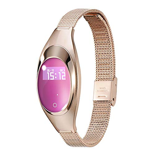 Femenina Impermeable SmartWatch Watch Entrante Call Sleep Monitoring Heart Rate Toate Monitor Fitness Tracker para Android iOS (Color : Gold)