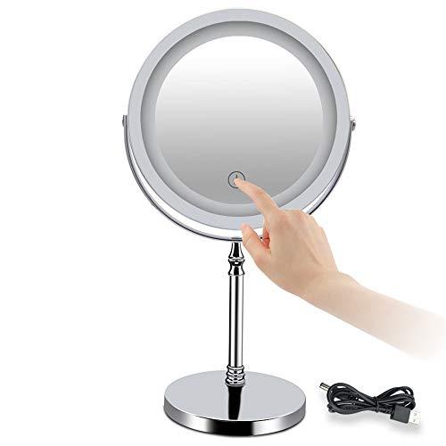 ZHMIRROR Miroir grossissant grossissant grossissant grossissant grossissant grossissant grossissant grossissant grossissant pivotant à 360°, miroir cosmétique Vanity double face