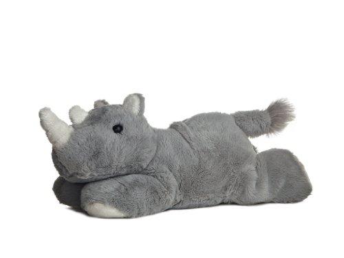 Aurora 31267 31267-Mini Flopsie-Nashorn Rhino 20.5 cm, grau