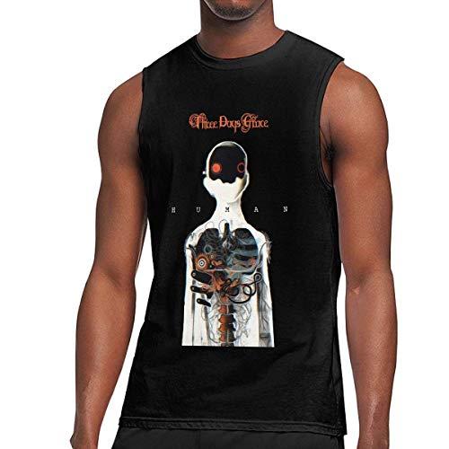 Camiseta sin Mangas sin Mangas del Chaleco del Gimnasio de 3 días Grace de los Hombres Camisetas sin Mangas del músculo Negro