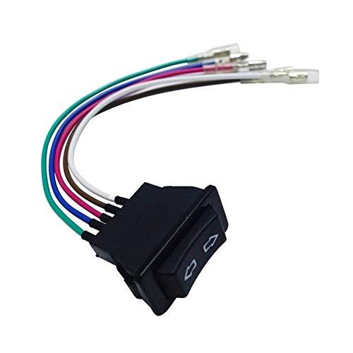 Ymhan Profesional 5 Pines 12 24 por la Ventana de energía del Coche V Negro Interruptor con la lámpara de plástico Componentes electrónicos universales for los Coches (Color : Red)