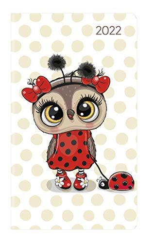Ladytimer Slim Ladybug 2022 - Taschen-Kalender 9x15,6 cm - Marienkäfer - Weekly - 128 Seiten - Notiz-Buch - Alpha Edition