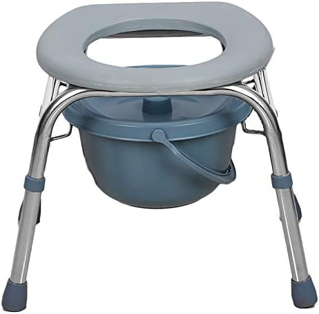 WXZX Toilet seat Non-Slip 1 Max 47% OFF year warranty Steel Sturdy Portable Stainless