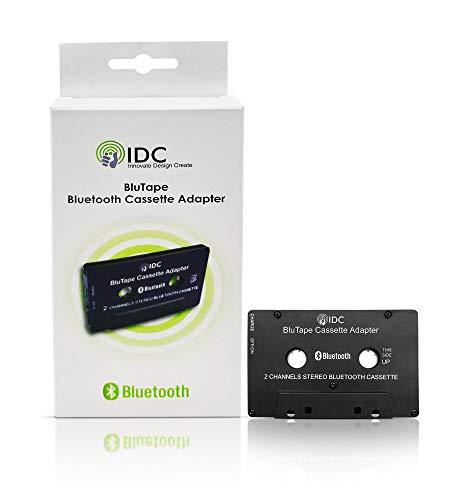 IDC © BluTape Bluetooth Receiver Auto / Van-Stereo-Kassetten-Adapter - Turn eine standard Stereo-Kassette tape Player Bluetooth für kabellose Musik. Audio-Stream von Ihrem konventionellen Tape-Deck-Player auf Ihrem Smartphone oder Tablet. Z.B. Iphone 4 5 6 7 - Ipad oder Samsung Handy Etc. Version 4.0 + EDR Bluetooth.
