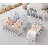 Wondsea 3 Stück Schubladen-Organizer für Unterwäsche, Unterwäsche, Unterschrank, faltbare...
