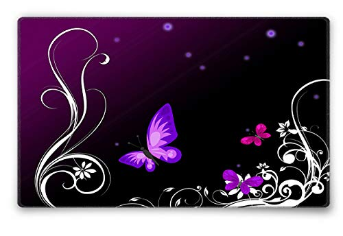 Silent Monsters Mauspad Grose S 240 x 200 mm Stoff Mousepad Design Purple Butterfly Vernahter Rand geeignet fur Buro und Gaming Maus