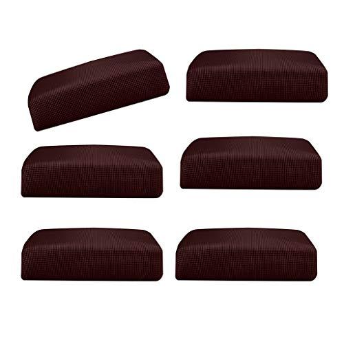Amuzocity 6 Piezas Dark Brown_Size S Spandex Elastic Couch Stretch Durable