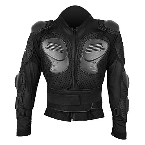 Cocoarm Motorfiets Volledige Body Armor Armor Beschermende Jas voor Bewaking Mountainbike Racing Shirt Jas Cover Mannen Borst Bescherm (Zwart, M)