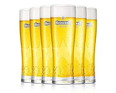 Set of 6 HEINEKEN GLASSES 25 CL