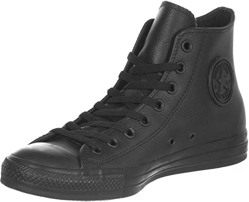 Converse All Star Hi Leather Sneakers Nero Monocromatico-UK 3.5