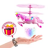 Hand-Control Flying Unicorn Helicopter & Drone Toy Girls Age 6 7 8 9-14