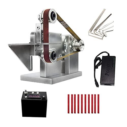 Mini Belt Sander, 7 Speed Adjustable Power Belt Grinder, DIY Polishing Grinding Sanding Machine for Woodworking Metal Knife Making
