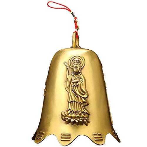 Dekoartikel Chinesische Feng Shui Glocke Good Luck Fortune-Start Crafts hängende Dekoration Geschenk-reines Kupfer Kupfer Wind Chimes Türklingel Ornament für Reichtum und viel Glück