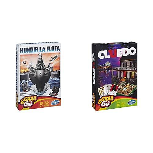 Hasbro Gaming Hundir La Flota Viaje Gaming Travel Juego De Estrategia, Multicolor...
