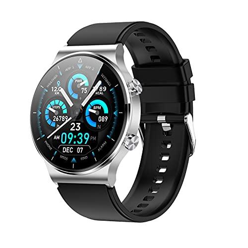 Smartwatch Deportivo Botón Giratorio Monitor De Frecuencia Cardíaca Impermeable IP68 Esfigmomanómetro Del Sueño Pulsera Inteligente Rastreador De Ejercicios Podómetro Compatible Con Android Ios,C
