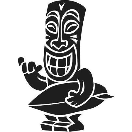 Pegatina Promotion Maori Figur Tiki 20 Cm Aufkleber Sticker Autoaufkleber Wandtattoo Surf Kite Surfen Wassersport Fun Sea Auto